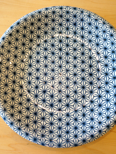Leaf Pattern Plate - Blue 01