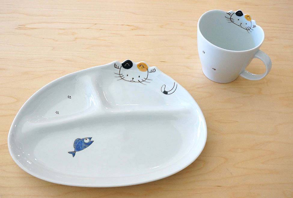 Kids Plate & Cup - Cat