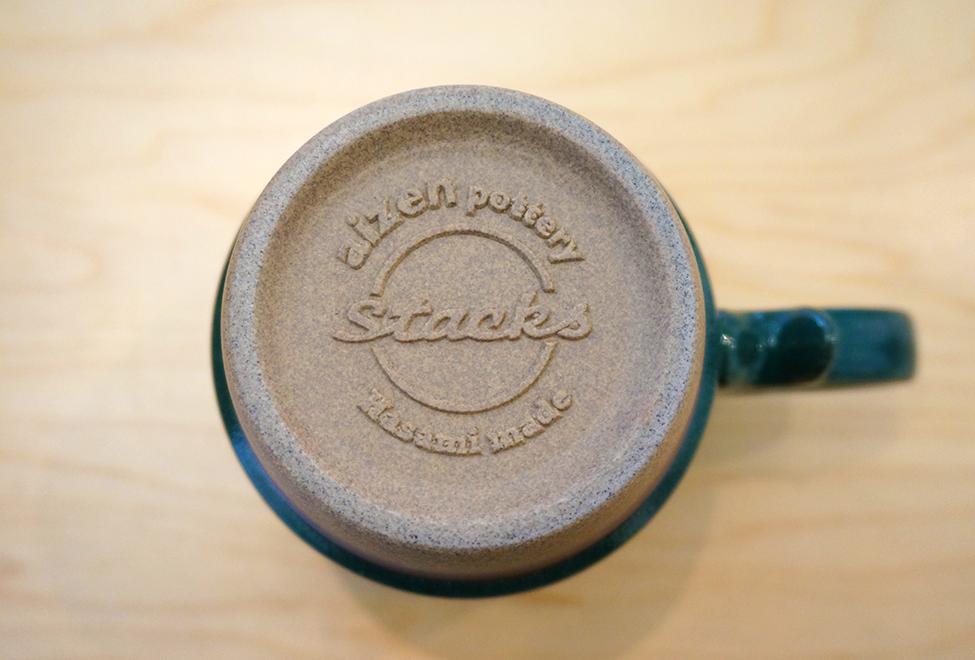 Mug Cup - Stacks Deep Green Bottom