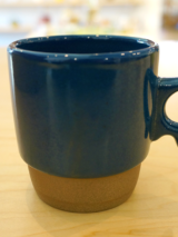 Mug Cup - Stacks Navy Blue