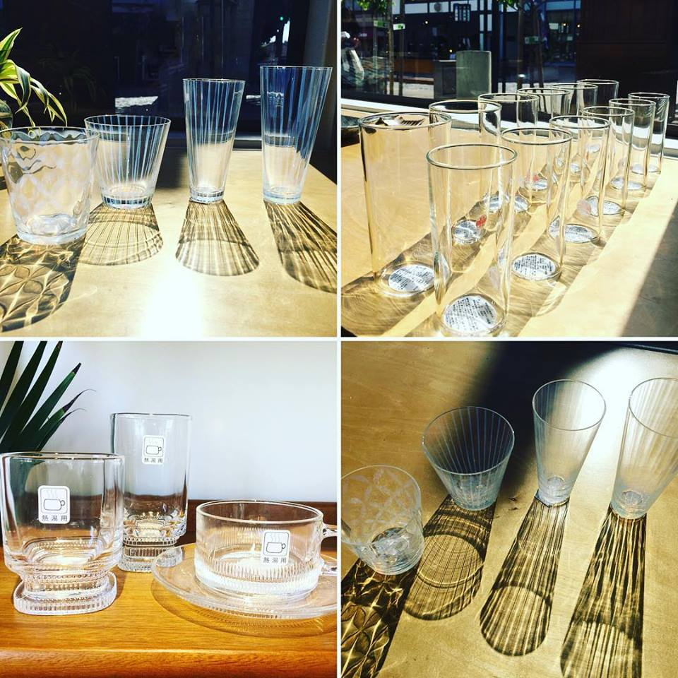 Glassware collection at Sanko