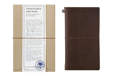 Traveler's notebook Starter Kit Regular size Brown